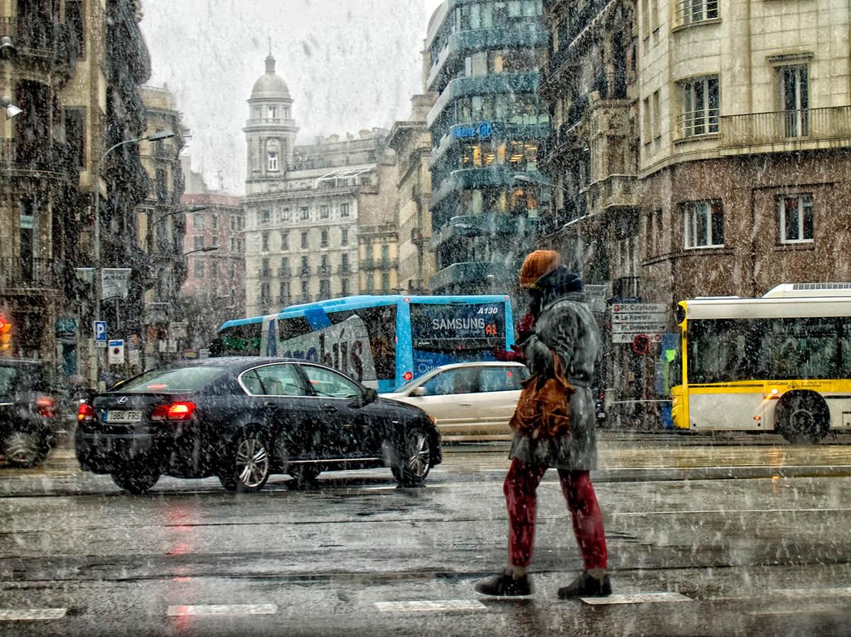 Снег в Барселоне