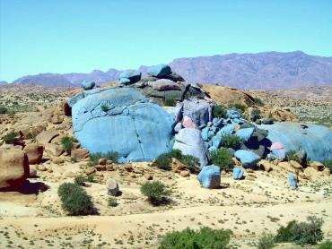 Долина синих камней в Марокко