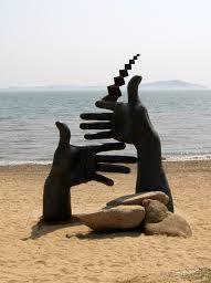 Парк скульптур из фильма Время