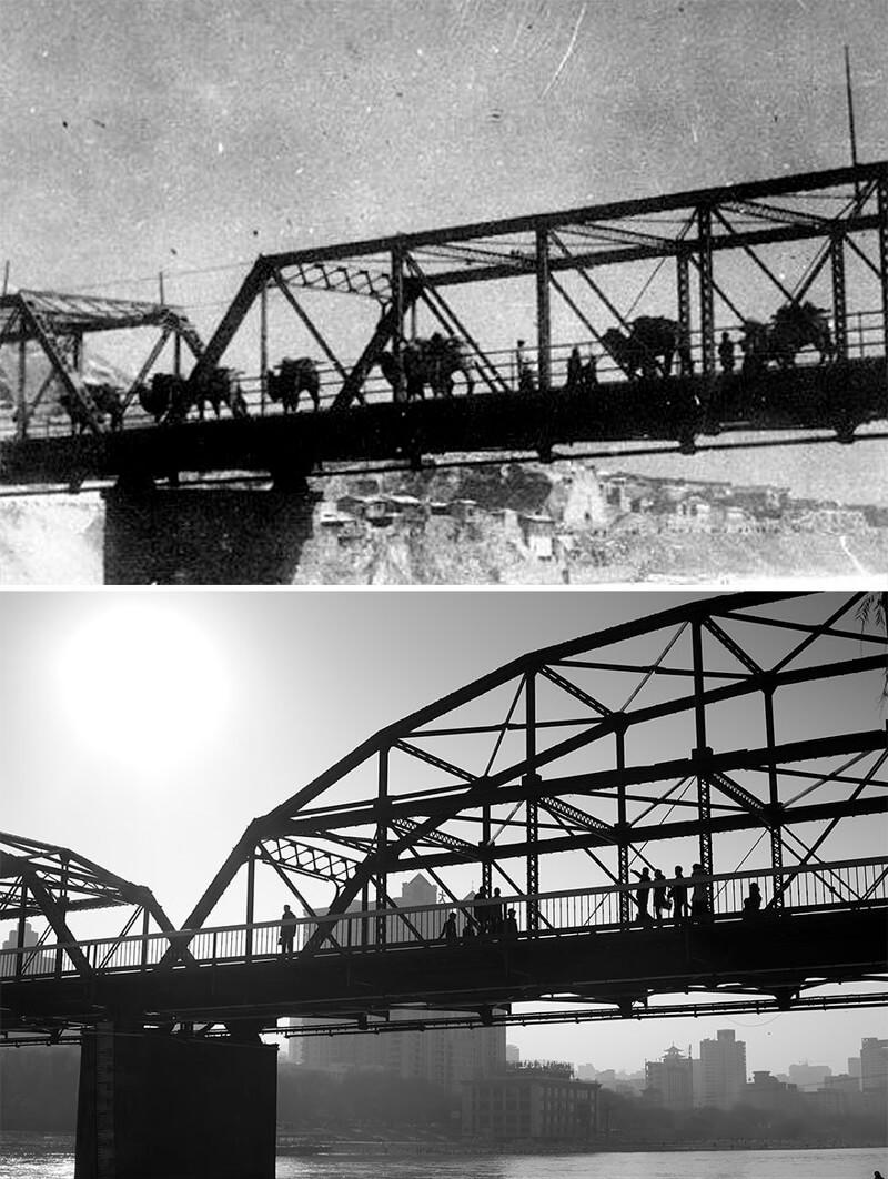Вид на мост в Ланьчжоу
