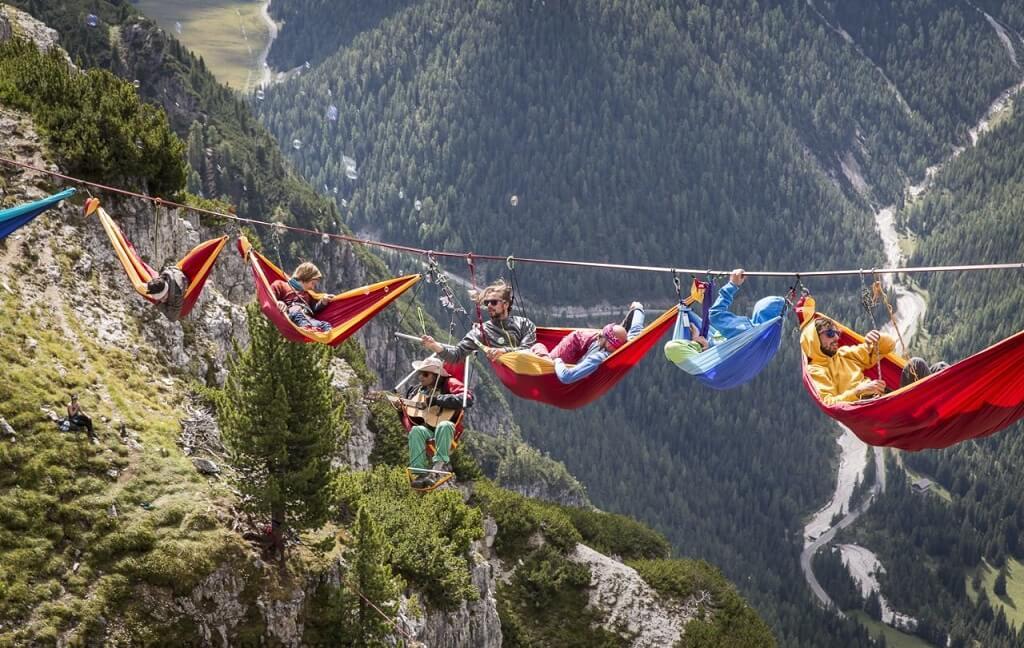 """Фестиваль """"Highline meeting"""" в Италии"""