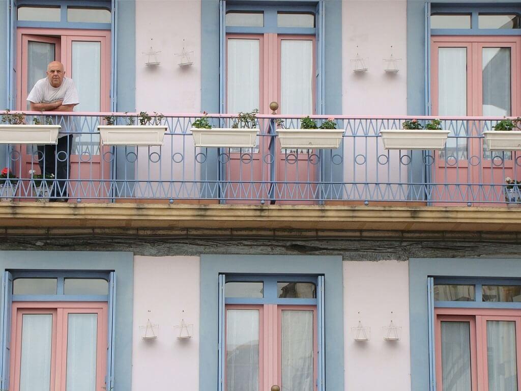 Фасад жилого дома. Страна басков, Испания