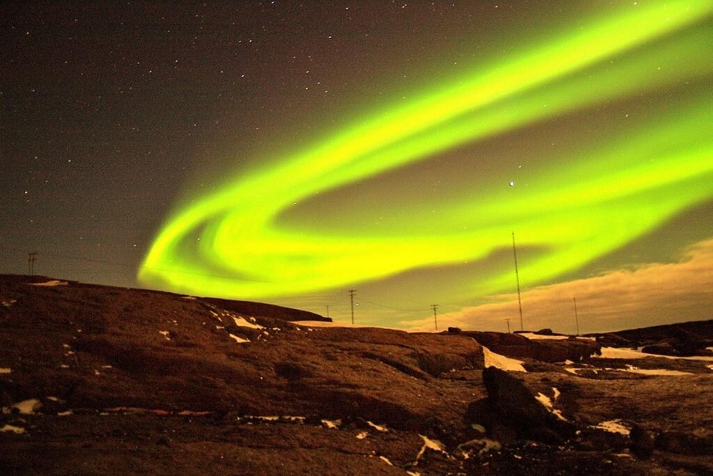 Полярное сияние на Гренландии