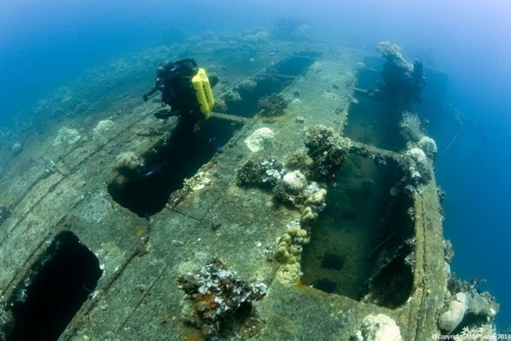 Подводное кладбище японского флота в Микронезии